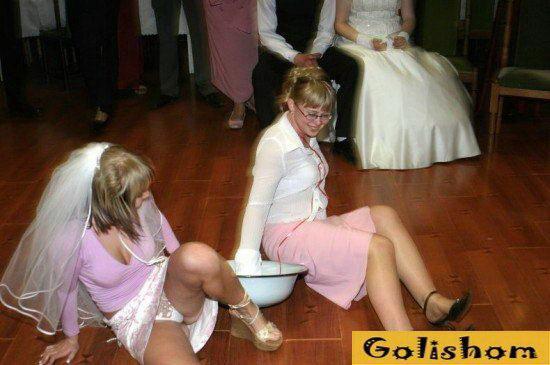Голая на свадьбе фото, секс с членом со стены