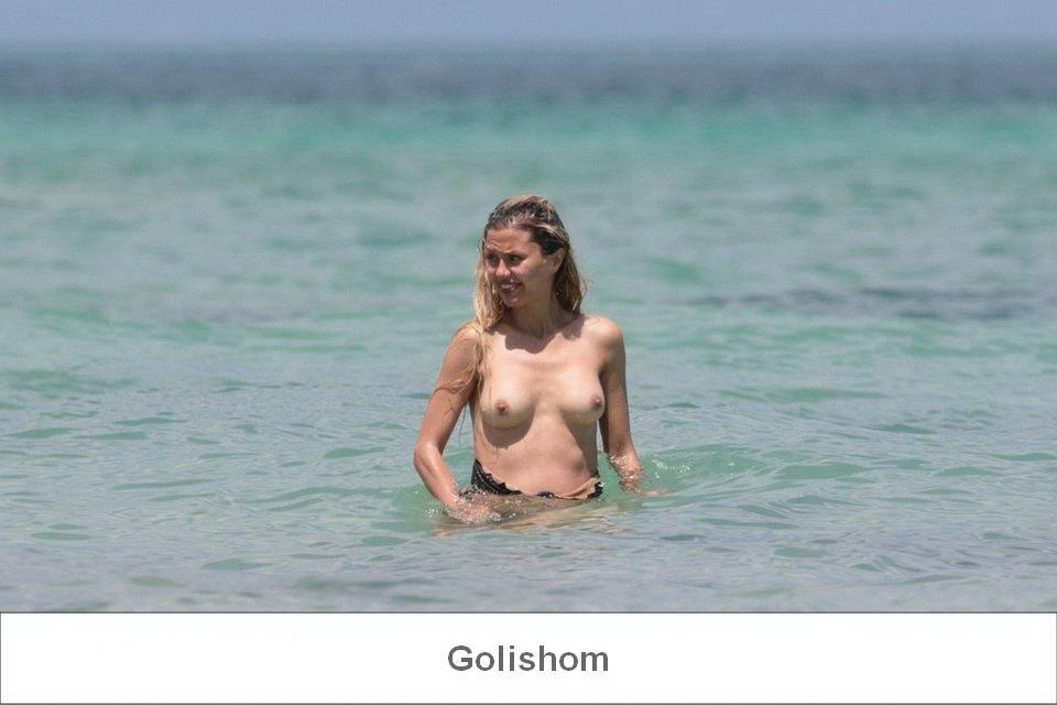 Голая Виктория Боня засветилась в Майами на пляже